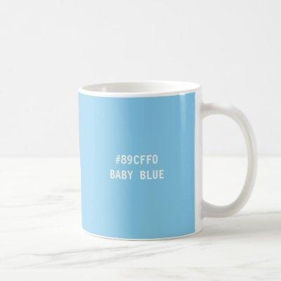 Baby Blue Hex Code Color Code Mug
