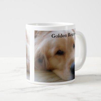 Baby, Golden Retriever Giant Coffee Mug