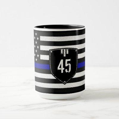 Badge # Thin Blue Line Flag Mug