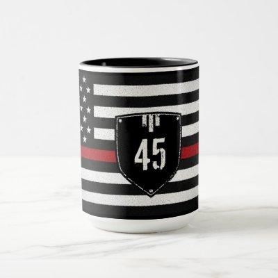 Badge # Thin Red Line Flag Mug