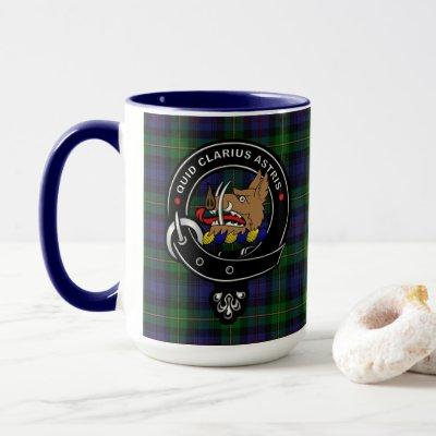 Baillie Clan Badge & Tartan Combo Mug