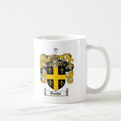 BANKS FAMILY CREST -  BANKS COAT OF ARMS COFFEE MUG