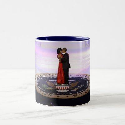 Barack and Michelle Obama Two-Tone Coffee Mug