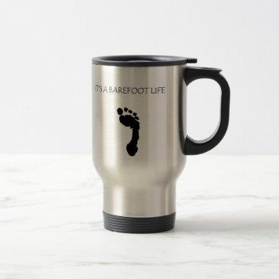 """Barefoot Brand """"Barefoot Life"""" coffee mug"""