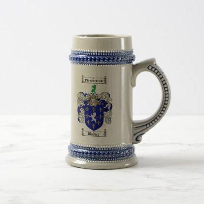Barker Coat of Arms Stein / Barker Family Crest
