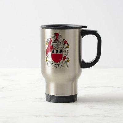 Barrow Family Crest Travel Mug