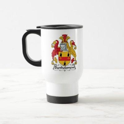 Bartholomew Family Crest Travel Mug