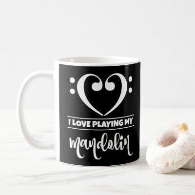 Bass Clef Heart I Love Playing My Mandolin Coffee Mug