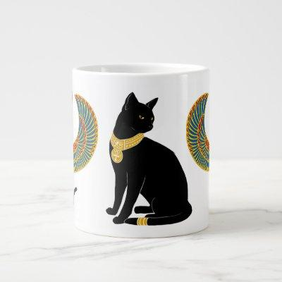 Bastet: Winged Cat of Isis! Large Coffee Mug