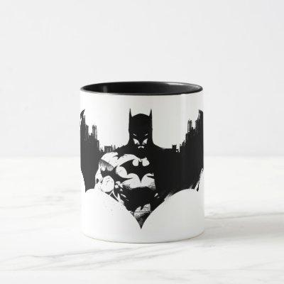 Batman and Gotham Silhouette Bat Logo Mug