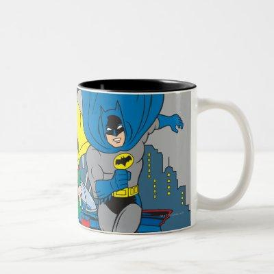 Batman And Robin Running Two-Tone Coffee Mug