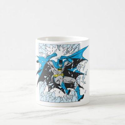 Batman Bursts Through Glass Coffee Mug