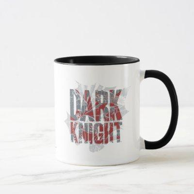 Batman Dark Knight | Name Red Grey Logo Mug