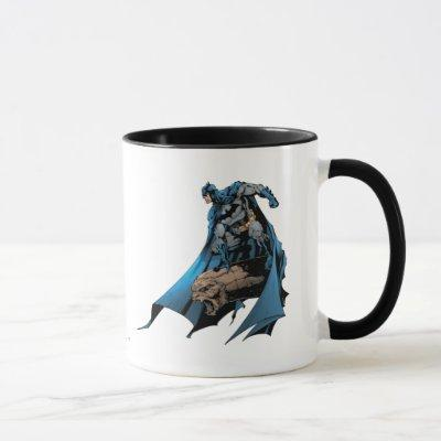 Batman on gargoyle mug