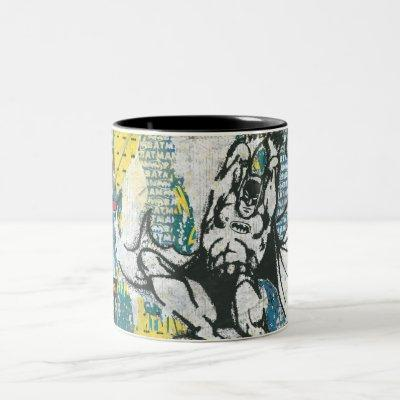 Batman - Rise Up Collage 2 Two-Tone Coffee Mug