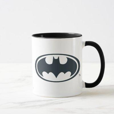 Batman Symbol | Black and White Logo Mug
