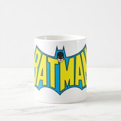 Batman | Vintage Yellow Blue Logo Coffee Mug