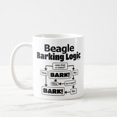 Beagle Barking Logic Coffee Mug