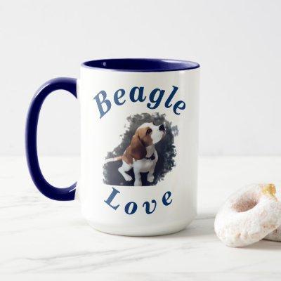 """Beagle Love"" Cutest Puppy Gift for Her Him Coffee Mug"