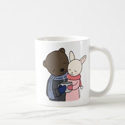 Bear & Bunny Mug Cute Couple Cute Mug Gift for Her