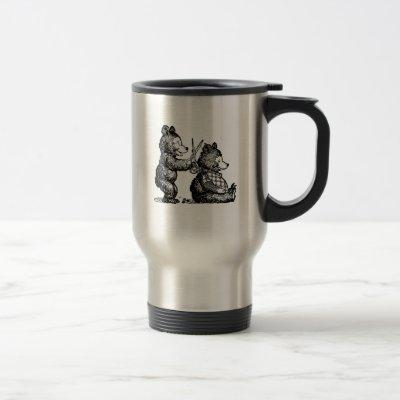 Beary Happy Hairdresser, Stylist or Barber Travel Mug