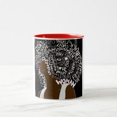 Beautiful Afro Two-Tone Coffee Mug