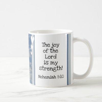 Beautiful Bible Verse Clouds Photo Template Custom Coffee Mug