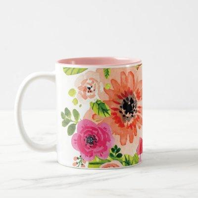 Beautiful Boho Style Colorful Floral | Mug