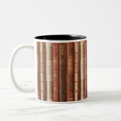 Beautiful Book Spines Two-Tone Coffee Mug