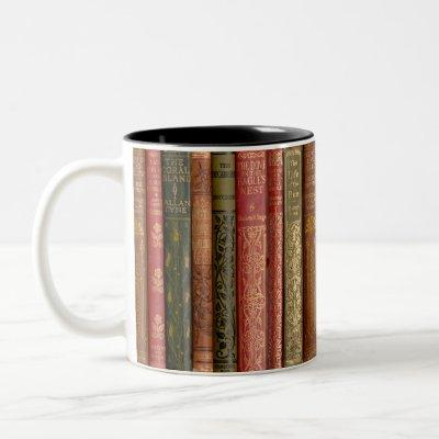 Beautiful Book Spines Two-Tone Coffee Mug