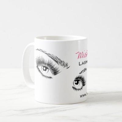 Beautiful eyes Long lashes Lash Extension Coffee Mug