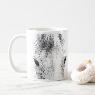 Beautiful Gray Mare Horse Coffee Mug