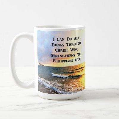BEAUTIFUL PHILIPPIANS 4:13 SCRIPTURE PHOTO COFFEE MUG