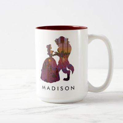 Beauty & The Beast | Silouette Dancing Two-Tone Coffee Mug