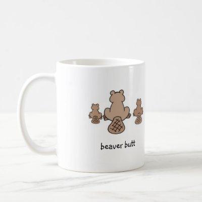 beaver butt coffee mug