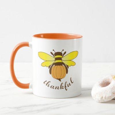 Bee Thankful Holiday Cup/ Mug