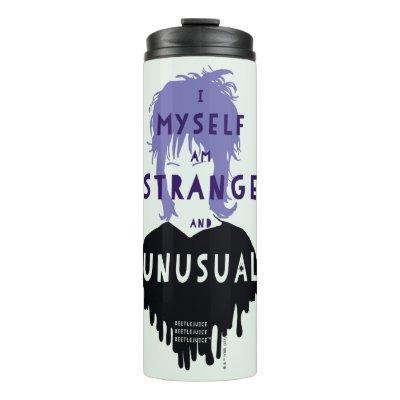 "Beetlejuice | Lydia ""Strange and Unusual"" Graphic Thermal Tumbler"