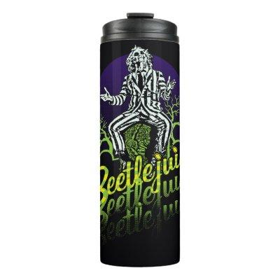 Beetlejuice | Sitting on a Tombstone Thermal Tumbler