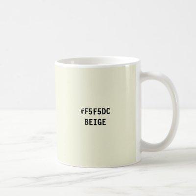Beige Color hex Code Mug