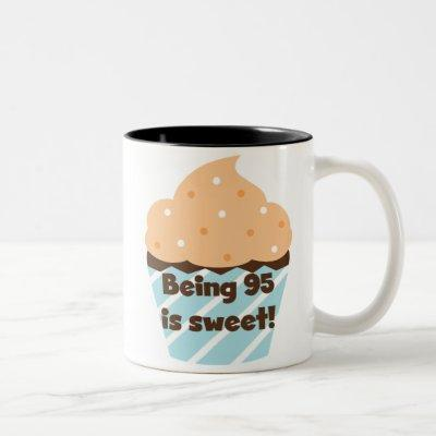 Being 95 is Sweet Birthday T-shirts and Gifts Two-Tone Coffee Mug