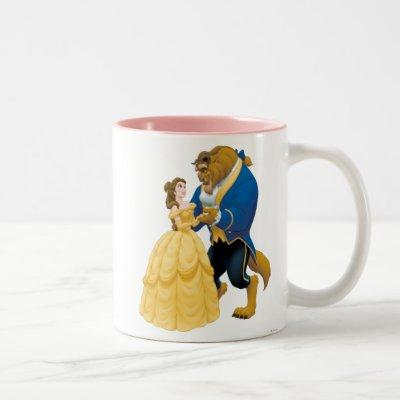Belle and Beast Dancing Two-Tone Coffee Mug