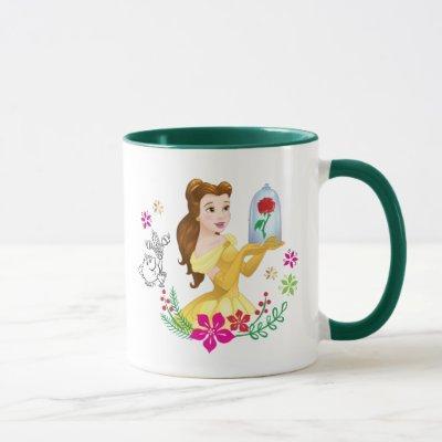 Belle   Belle And Her Christmas Rose Mug