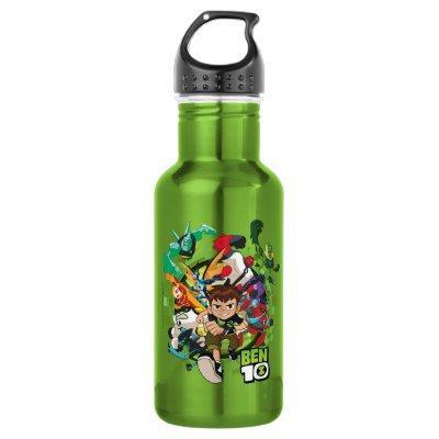 Ben 10 Alien Rush Graphic Stainless Steel Water Bottle