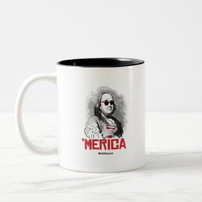 Ben Franklin 'Merican Party Two-Tone Coffee Mug