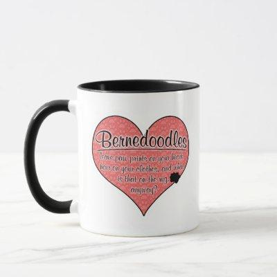 Bernedoodle Paw Prints Dog Humor Mug