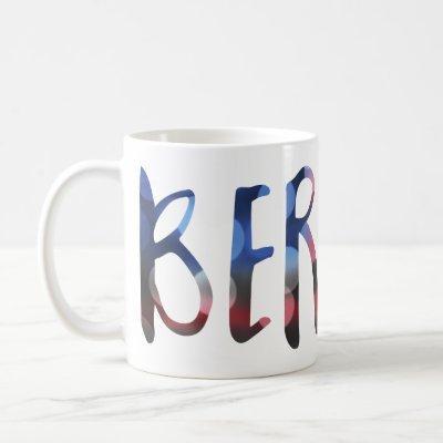 bernie sanders bokeh coffee mug