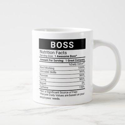 Best Boss Ever with Nutrition Facts, Coffee Mug