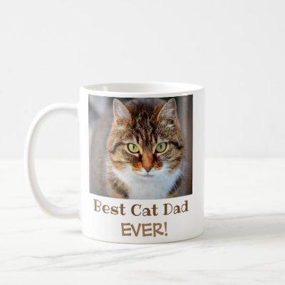 Best Cat Dad Ever Pet Photo Coffee Mug