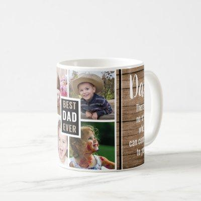 Best Dad Ever 4 Photo Collage Father's Day Coffee Mug