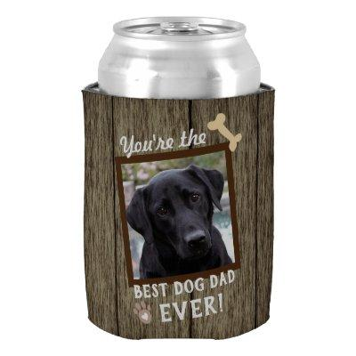 Best Dog Dad Ever One Photo Can Cooler
